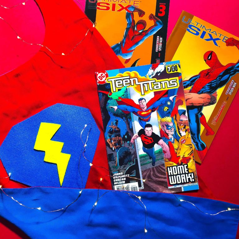 Superhero Workshop Cape with Spiderman and Teen Titans