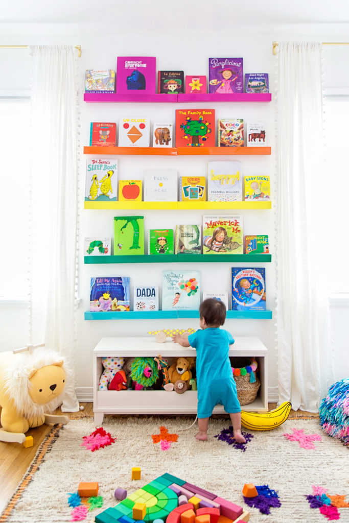 Studio DIY Rainbow Bookshelves