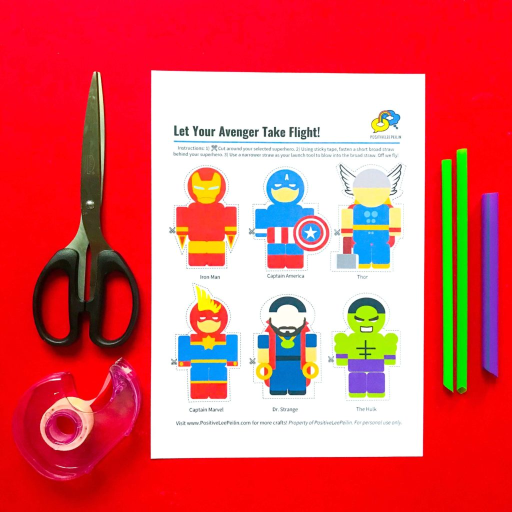 Superhero DIY Craft Avengers Printable and Materials