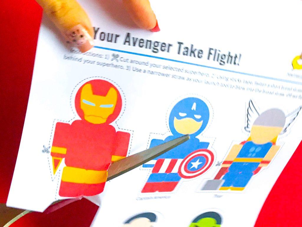 Superhero DIY Craft Cutting