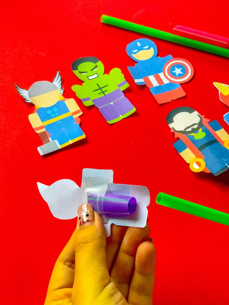 Superhero DIY Craft Back with Straws