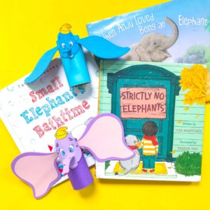 Books about Elephants with Dumbo DIY Craft