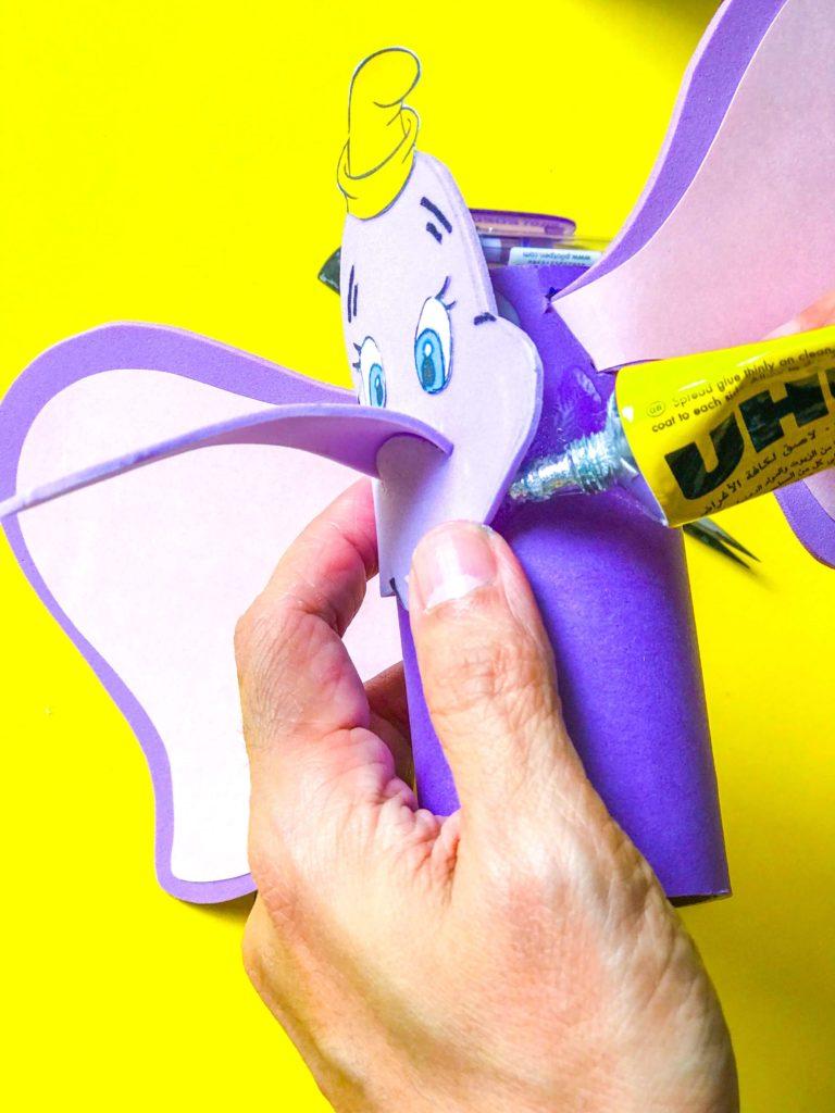 Dumbo DIY Craft Gluing