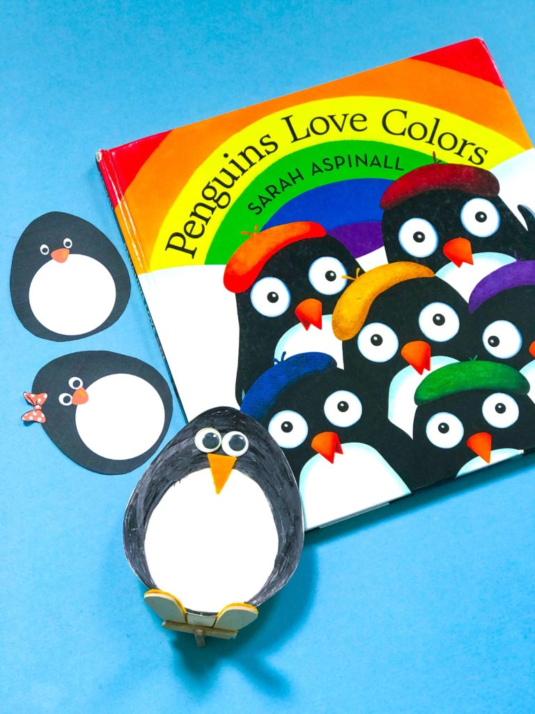 Penguin DIY Craft with 'Penguins Love Colours' Book by Sarah Aspinall