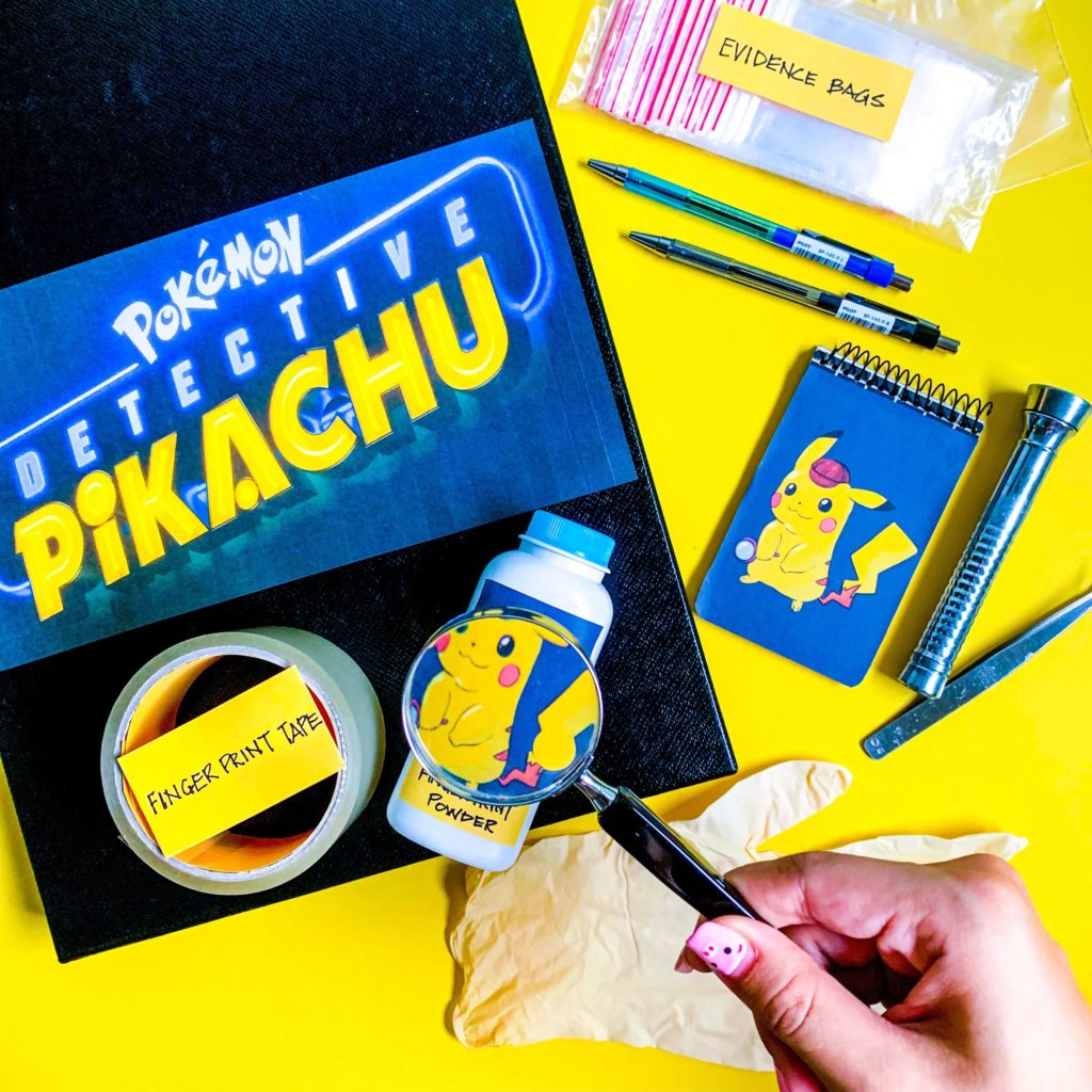 Detective Pikachu DIY Detective Kit with Hand and Magnifying Glass