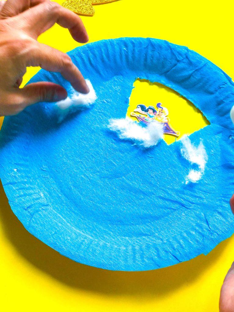 Aladdin DIY Craft Pasting Clouds
