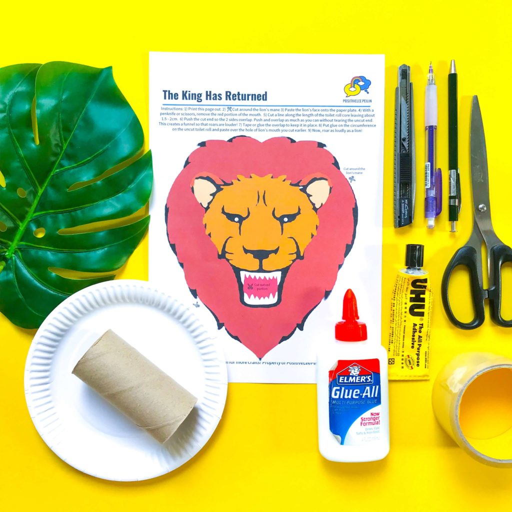 The Lion King DIY Craft Materials