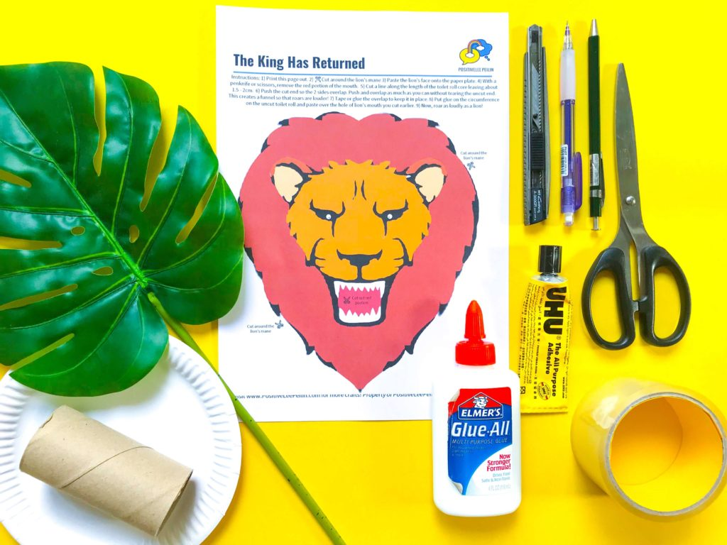The Lion King DIY Craft - Materials and Printable