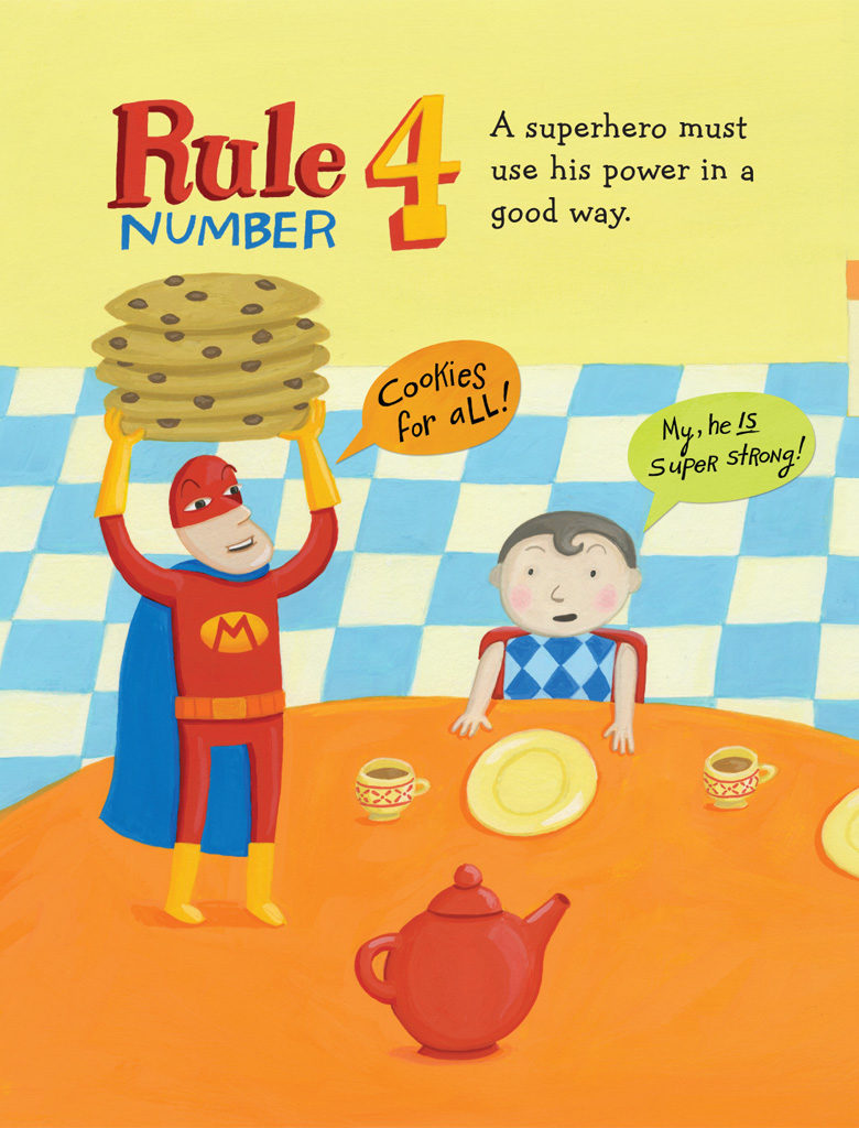 Books about Superheroes - Ten Rules of Being a Superhero by Deb Pilutti Page