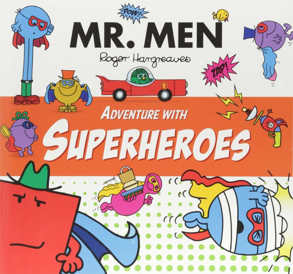 Books about Superheroes - Mr Men Adventure with Superheroes by Roger Hargreaves