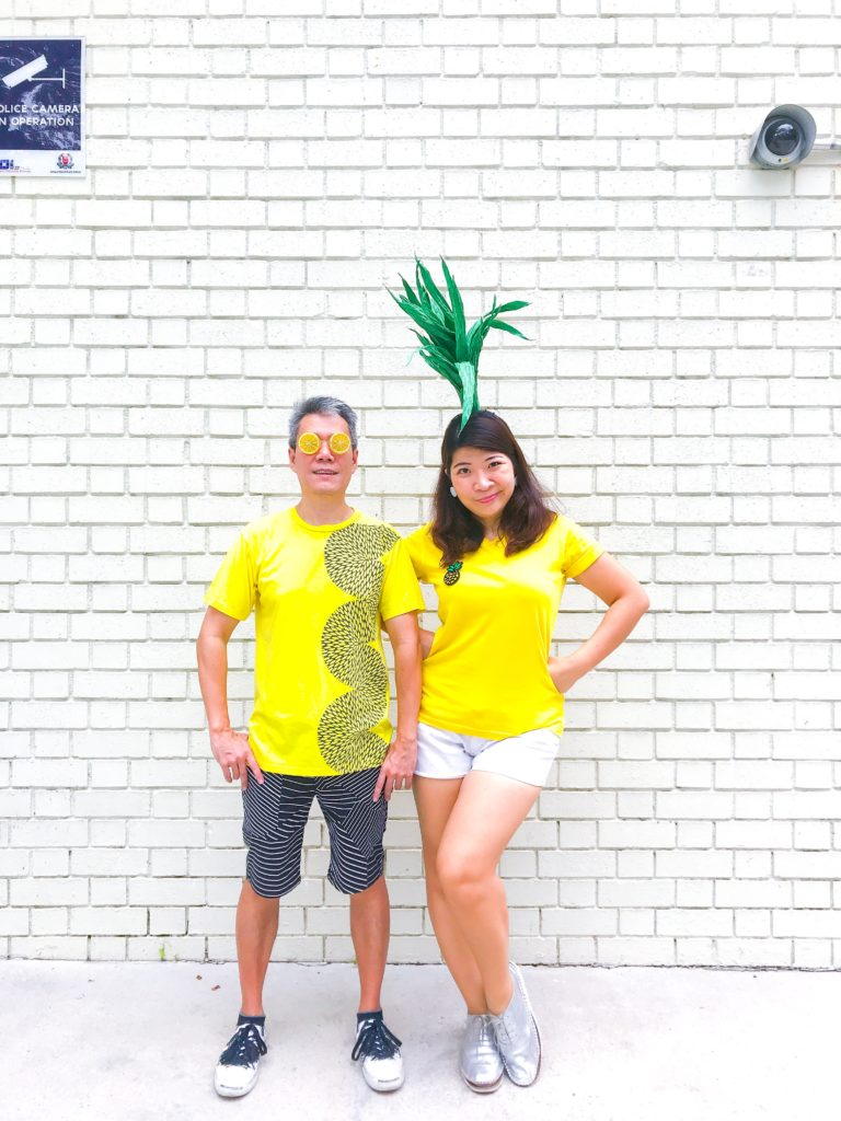 DIY Halloween Couple Costumes - Pineapple and Lemon