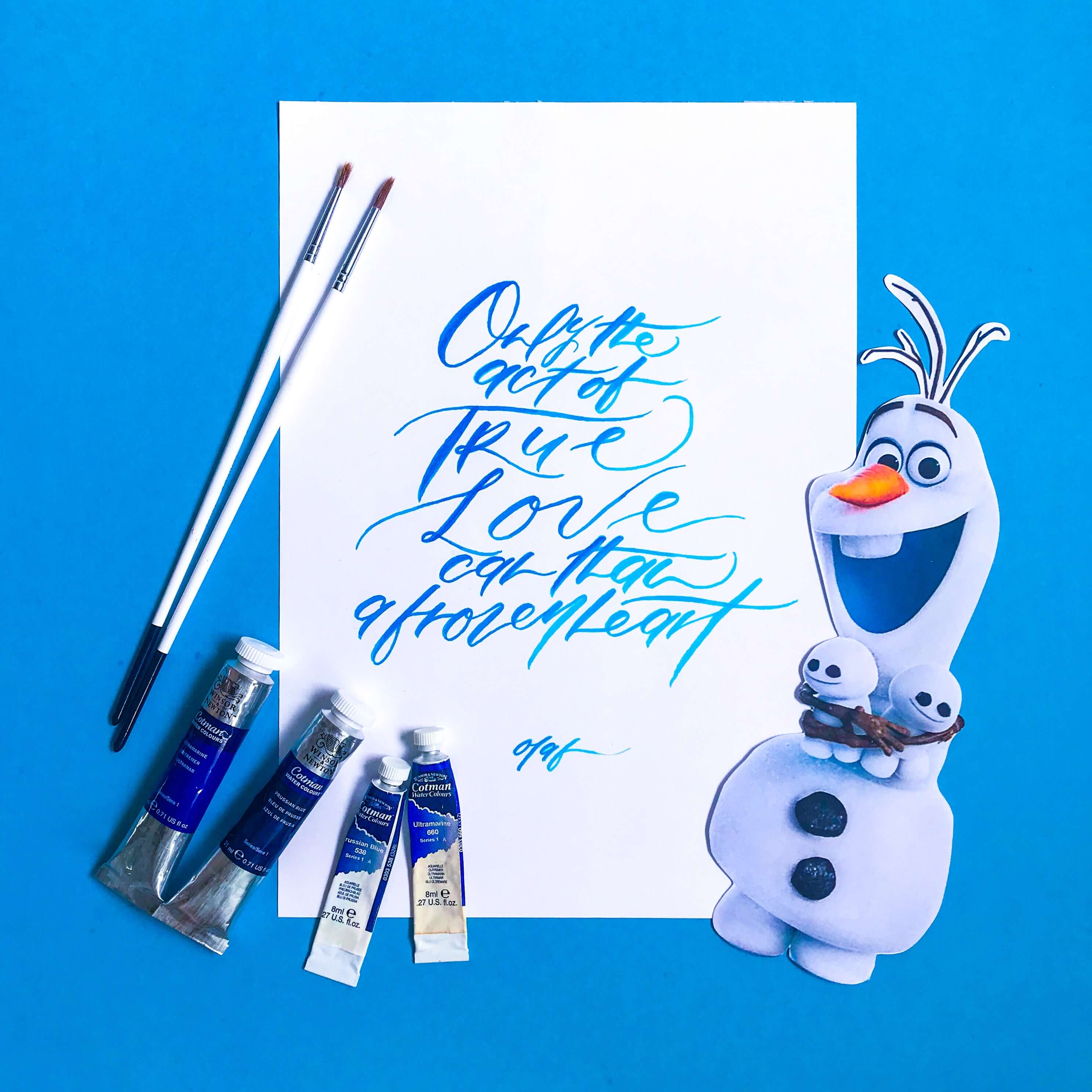 PositiveLeePeilin- DIY Frozen Calligraphy