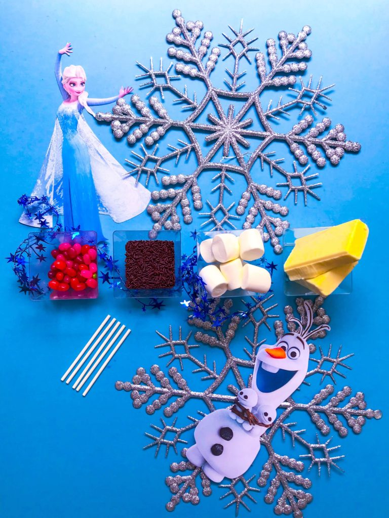 DIY Olaf Marshmallow Snowman Ingredients