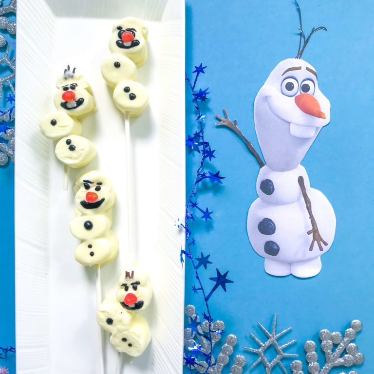 Make Your Own Olaf Marshmallow Snowman
