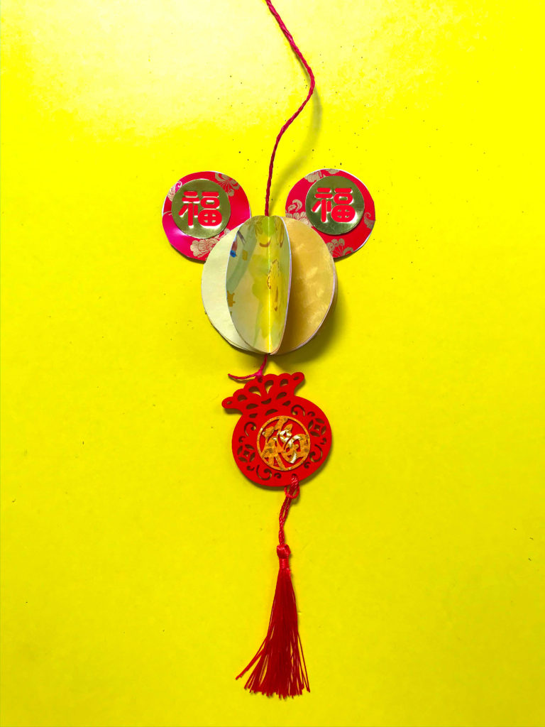 PositiveLeePeilin - Mickey CNY DIY Craft with Tassel