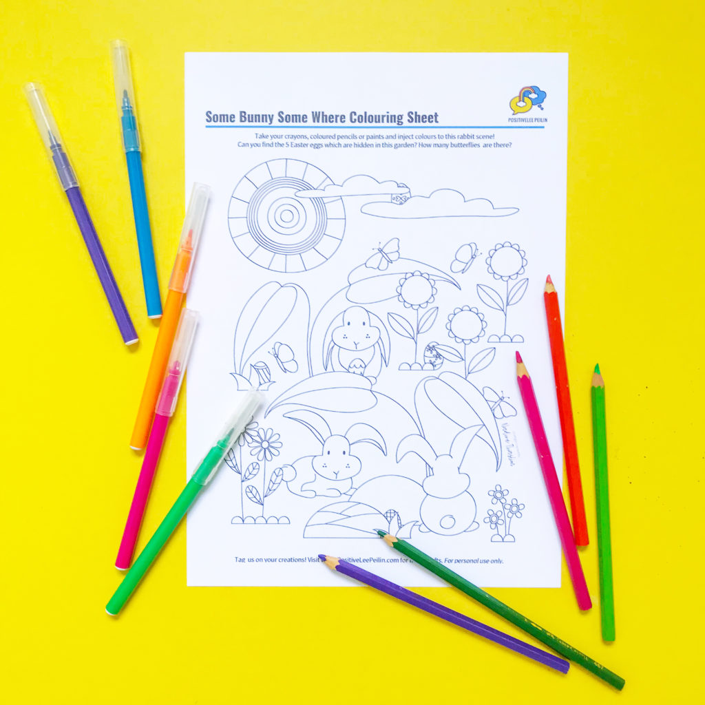 Easter Colouring Sheet: Some Bunny Somewhere: