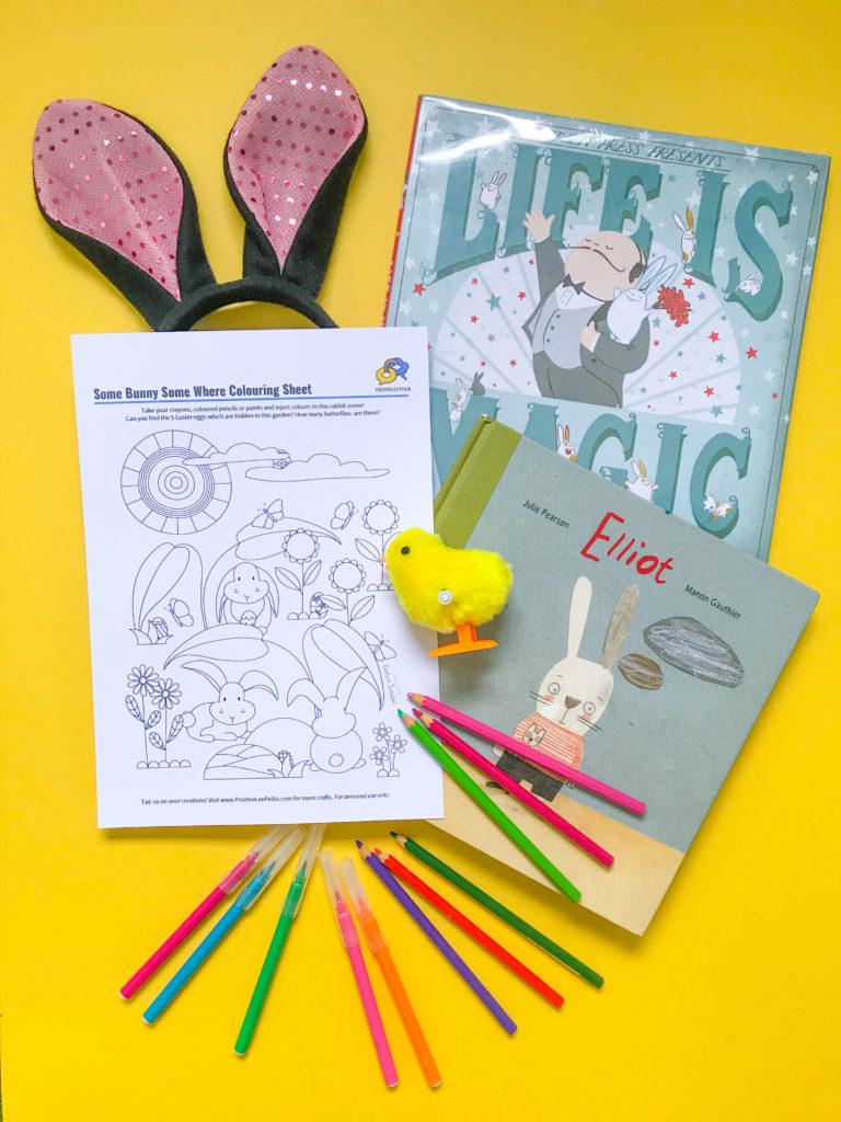 PositiveLeePeilin - Easter Colouring Sheet Rabbit Ears Books