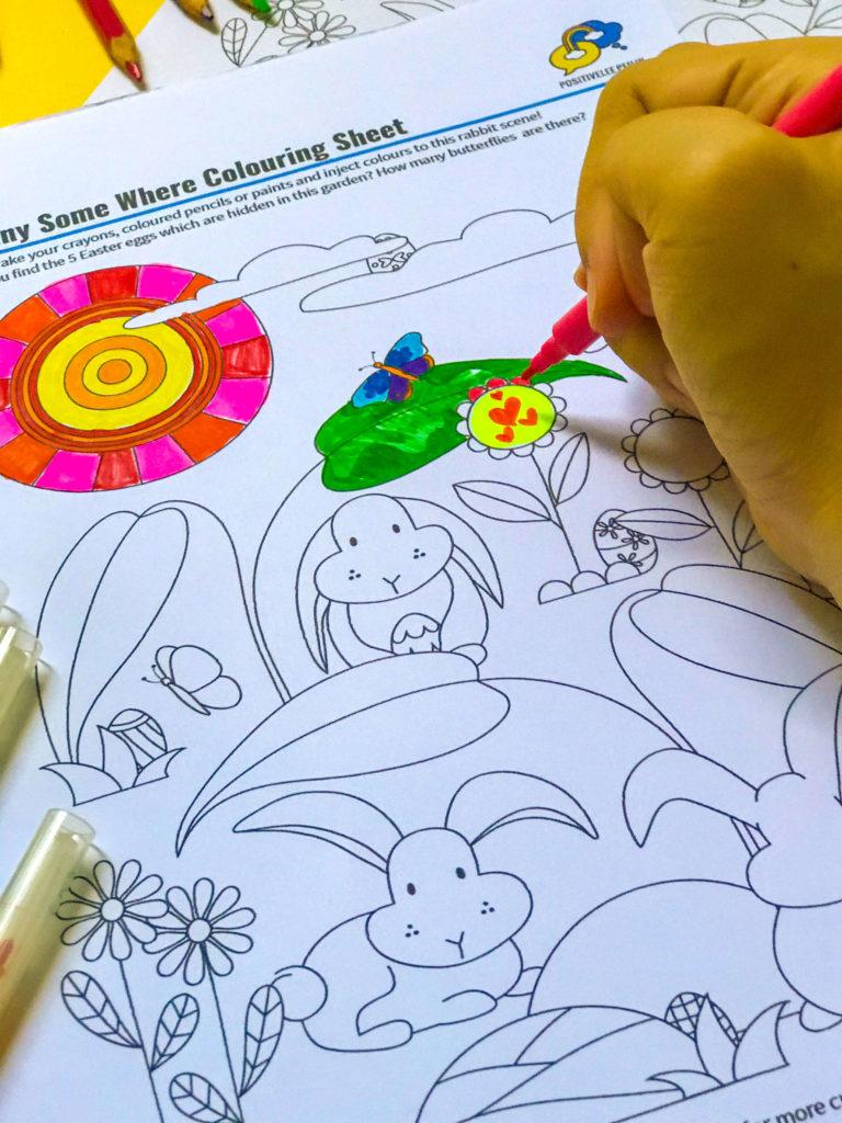 PositiveLeePeilin - Easter Colouring Sheet Hand Marker