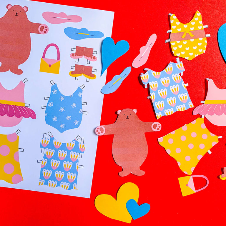PositiveLeePeilin - DIY Craft Bear Paper Doll