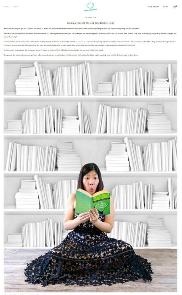 PositiveLeePeilin Interview Reading White Bookshelf