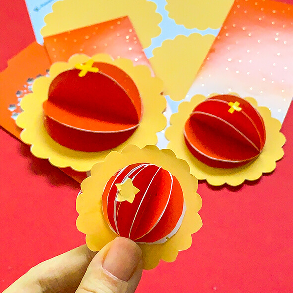 Leftover ang pows from Chinese New Year? Make this easy recycled Pineapple Tart DIY craft! No bake.